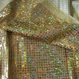 Gold Sparkly Stretch Fabric Glitzy Wear Outfits